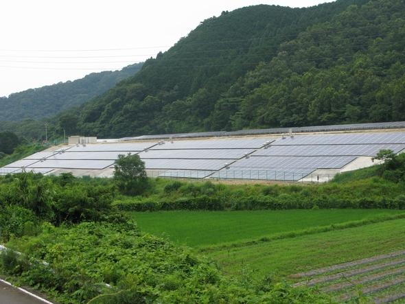 山林の太陽光発電