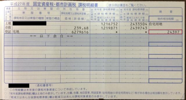 課税明細書-土地