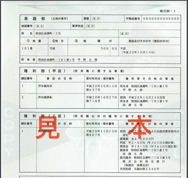登記事項証明書2